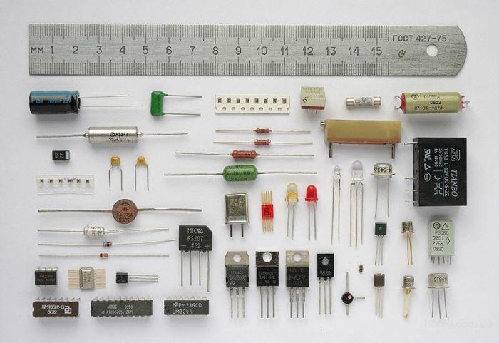 Радиодетали для сборки электронной схемы